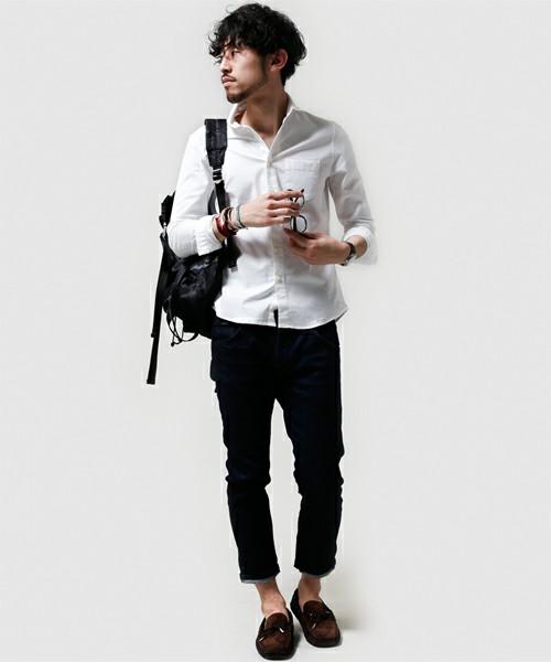 白シャツ 夏 メンズ