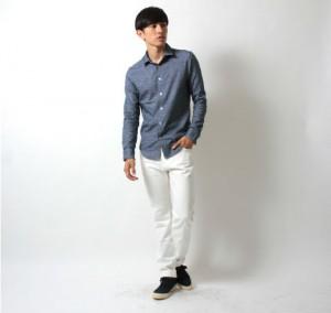 シャツ 青