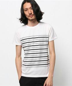 ボーダーTシャツ,白