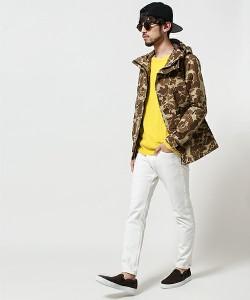 黄色のトップス メンズファッション