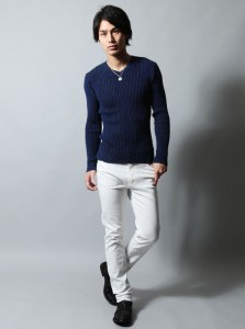 メンズファッション 白