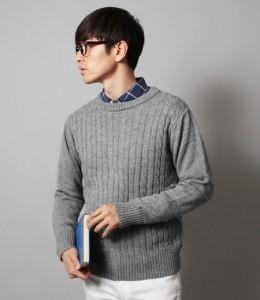 グレーのセーター メンズ