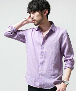ラベンダーのシャツ 夏