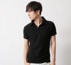 黒のポロシャツ メンズ