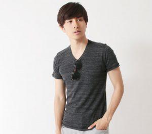 シャドーボーダー柄のTシャツ メンズ