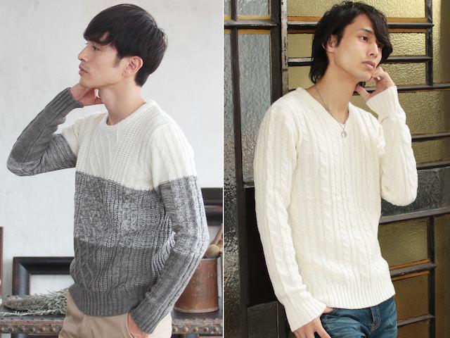 白のセーター 30代