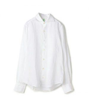 白のリネンシャツ ブランド