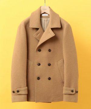キャメルのPコート 冬アウター