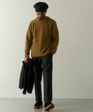ハイゲージニット 冬のメンズファッション