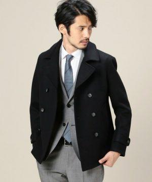 スーツのコート Pコート