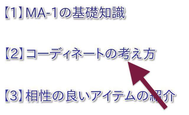 MA-1 コーディネート 春秋