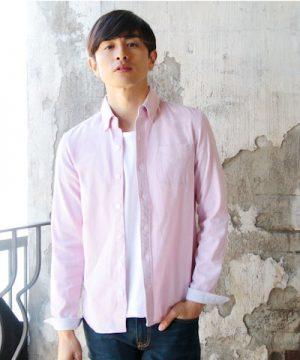 ピンクのシャツ メンズファッション