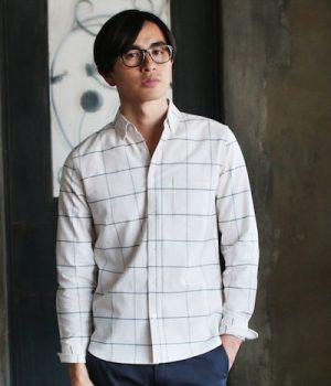 ウィンドペン柄のシャツ ブランド