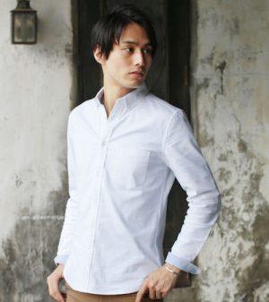 白の無地シャツ メンズファッション