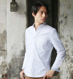 白のオックスフォードシャツ メンズファッション
