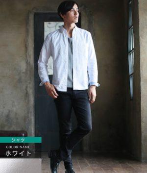 白のシャツ 春のメンズコーデ