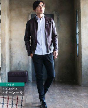 茶色のレザージャケット 30代