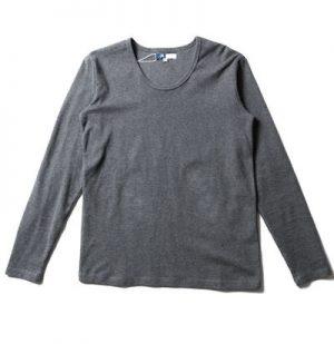 グレーの無地Tシャツ メンズ