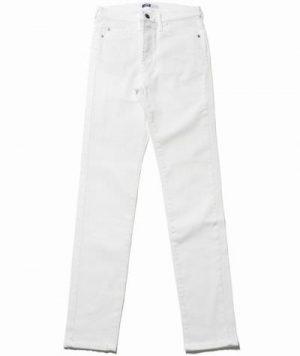 白のスキニーパンツ メンズファッション
