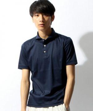 ブルー系のポロシャツ メンズファッション