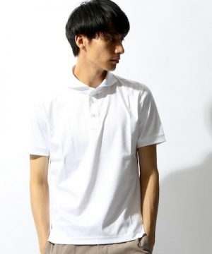 白のポロシャツ メンズファッション