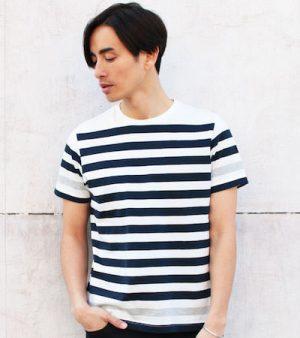ボーダーのTシャツ メンズファッション