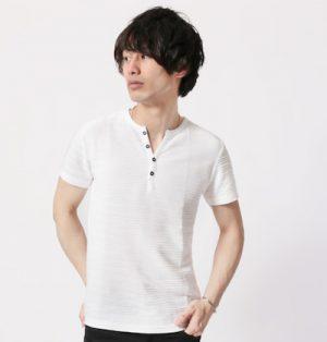 ヘンリーネックTシャツ メンズファッション