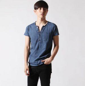ヘンリーネックTシャツ メンズ ブランド
