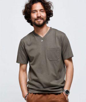 VネックTシャツ 無地