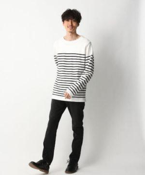 白のマリンボーダーTシャツ